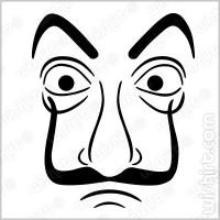 T-shirt La Casa de Papel Mascara Dali