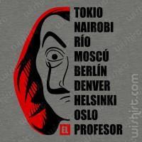 T-shirt La Casa de Papel Nomes