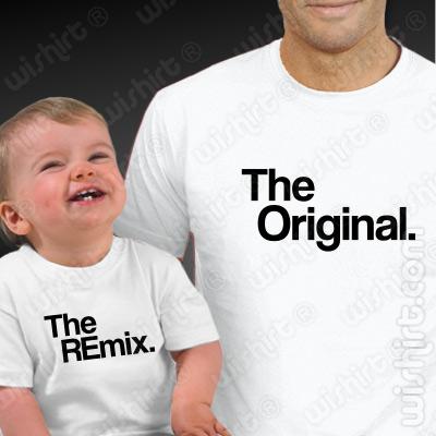 T-shirts The Original / The Remix Pai e Bebé, Prenda Dia do Pai