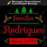 T-shirt Família Natal