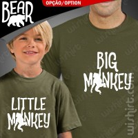 T-shirts Big/Little Monkey - Big/Little Bear Criança