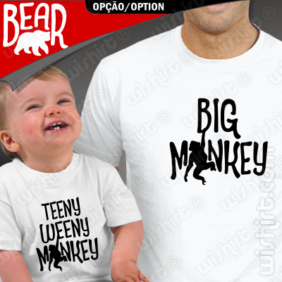T-shirts Pai e Bebé Big/Teeny Weeny Monkey - Big/Teeny Weeny Bear