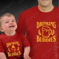 T-shirts Drinking Buddies Bebé