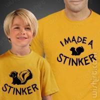 T-shirts I Made a Stinker Criança