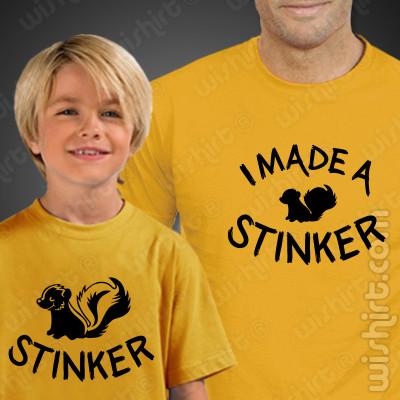 Conjunto de t-shirt Pai e Filho I Made a Stinker - Prenda Dia do Pai