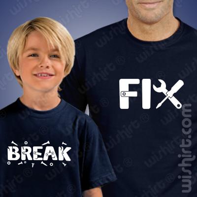 Conjunto t-shirts para Pai e Filho a condizer Fix Break - Dia do Pai