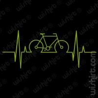 T-shirt Bicycle Heart Beat