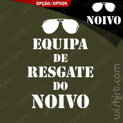 T-shirt Equipa de Resgate do Noivo - Edição Especial Despedida de Solteiro