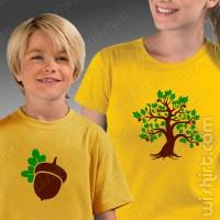 T-shirts Carvalho Bolota Mãe - Criança