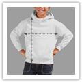 Tamanhos Sweat Shirt com Capuz Criança Unisexo