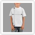 Tamanhos T-shirt Criança Unisexo